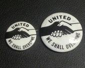 Smaller 1963-64 WE SHALL OVERCOME Historic Pinback Button