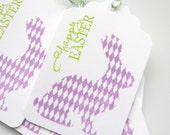 Happy Easter Tags, Easter Bunny Tags, Easter Gift Tags