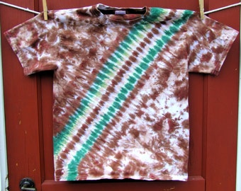 Tie Dye T-shirt - Forest Bandoleer - Youth Medium - Ready to Ship