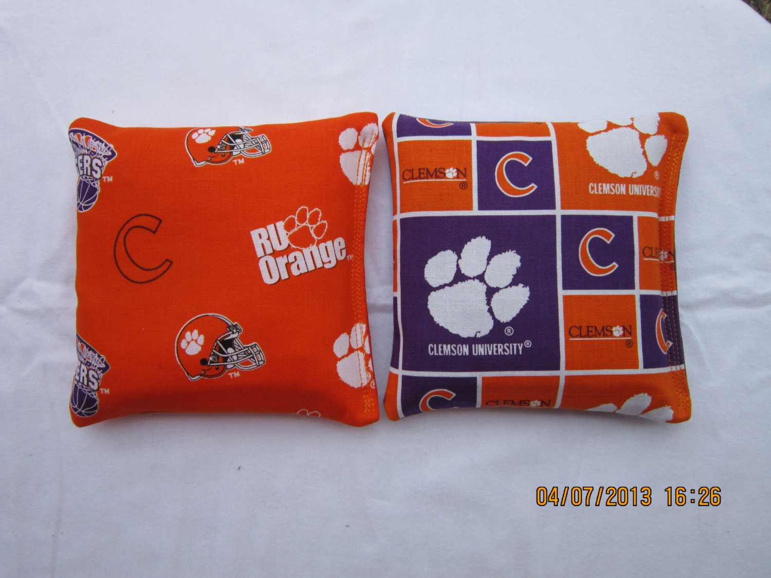 Clemson University Cornhole Set Of 8 Bags Baggo Bean Bag