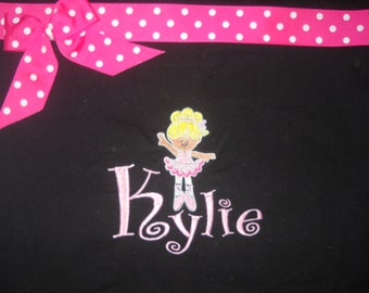 Ballet Tote Bag Personalized Ballerina Bag, Name, Ribbon and Bow. Dance bag,  Choose your colors. Adorable
