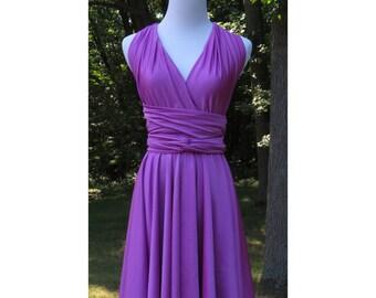 USA  Convertible Dress / infinity dress/ bridesmaids dress -- PURPLE COLORS