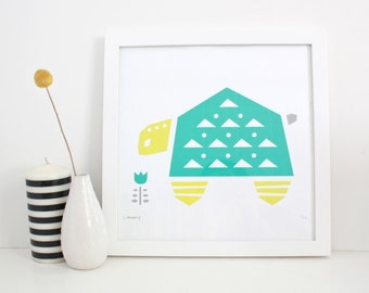 Turtle Print, Nursery Art