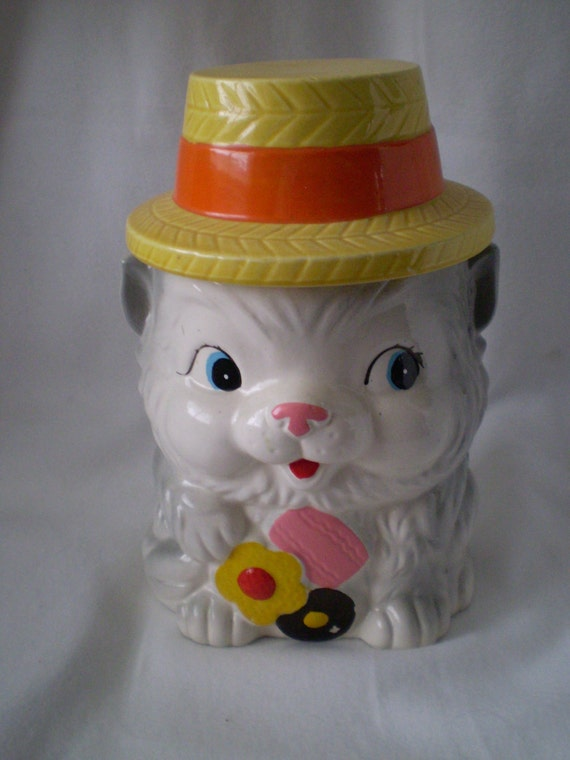 On Sale Vintage Japan Cat Cookie Jar