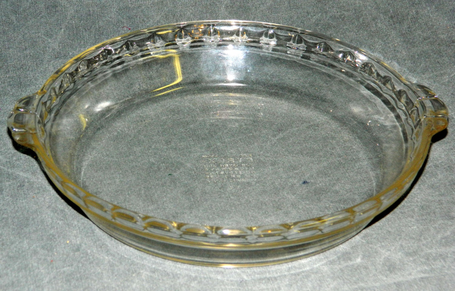 Pyrex Pie Plate Scalloped Fluted Edge Vintage Clear 9 5 Inch