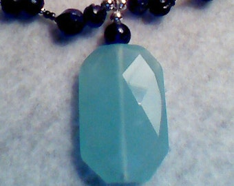 Boho Gentle Blues Amazonite Pendant