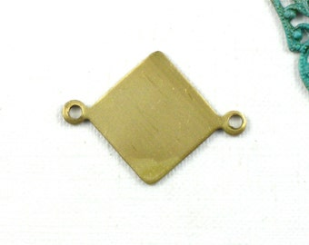 10 gold blank Diamond jewelry charms . 21mm x 15.5mm (ST80)