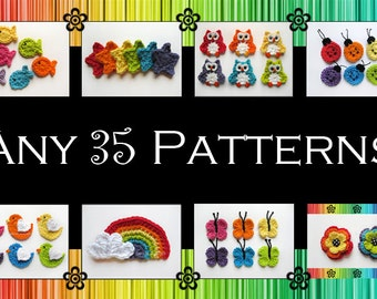 Your Choice of 35 Crochet Patterns (PDF)