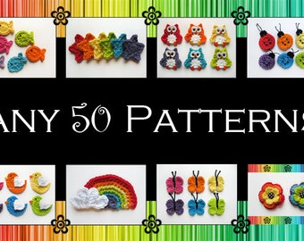 Your Choice of 50 Crochet Patterns (PDF)