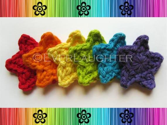 PATTERN-Crochet Star Applique-Detailed Photos