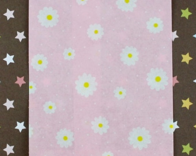 Daisy Pink Paper Bags