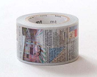 mt ex Washi Masking Tape - Newspaper Journal