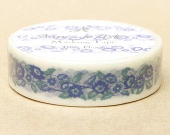 Aimez Washi Masking Tape - Blue Flowers