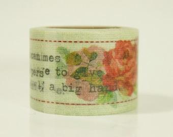 20% off sale - Aimez Washi Masking Tape - Typewriter Letter Rose - Wide