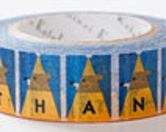 Shinzi Katoh Masking Tape - Thank You Bears