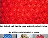 Small Deep Red Bandana Print Fabric Pup Tent Pet Bed for cats / dogs / ferrets / piggies / A toy box / Barbie Doll House