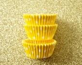Mini Yellow Polka Dots Cupcake Liners (50)