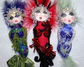 "Digital Download Bubble Doo Mermaid 6"" Pin Doll Pattern By Caroline Erbsland Signed"