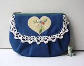 Heidi vintage fabric blue purse