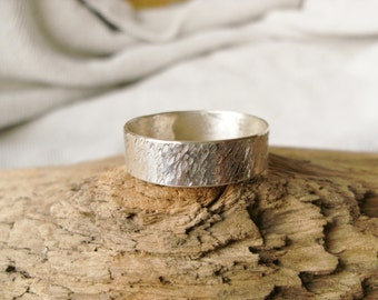 Men's Textured Sterling Silver Ring