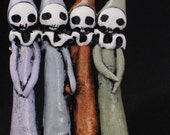 SALE Sisters - Four Little Poppets - Day of the Dead