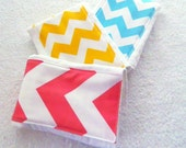 Girl Burp Cloth set of 3 - Chevron Boy Burp Cloth - Your Choice