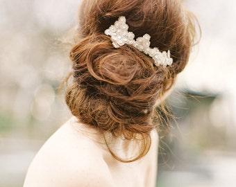 Celeste: starburst motif hair piece with Swarovski crystals (Gold or silver)
