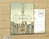 Philadelphia City Hall Postcard Save the Date