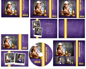 School spirit photo senior graduation template set for Senior photo collage templates