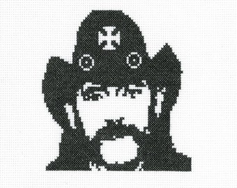 PATTERN - Lemmy Kilmister - Born to Lose - 8x10 Cross Stitch