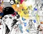 Dreamer // A3 Giclée print // ILLUSTRATION by Holly Sharpe