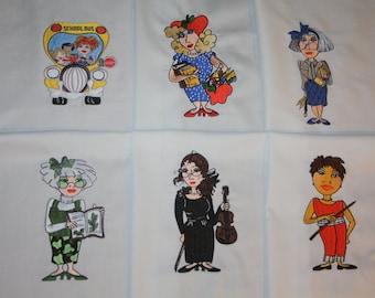 Teachers Set B Machine Embroidered Quilt Blocks