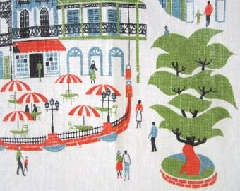 Vintage Towel Disneyland New Orleans Square Walt Disney Souvenir