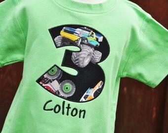 Monster Truck Birthday Shirt - Monster Truck Party - Monster Trucks - Monster Truck Shirt - Boys Birthday Shirt - Personalized Shirt