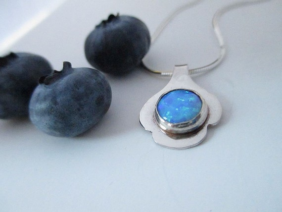 Petit Petals Necklace - Opal and Sterling Silver