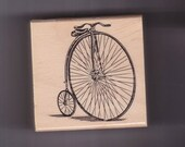 ANTIQUE BICYCLE  Bike Wood Mounted Rubber Stamp ECS