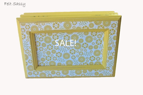 SALE - Refurbished Jewelry Box Small - Daisy Floral - by FeltSassy