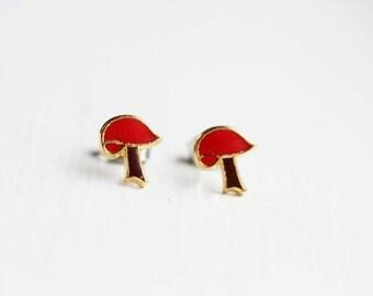 Red Mushroom Studs