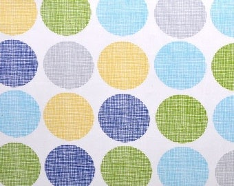 Havana, Gumdrops, Blue, Organic, Cotton,Sale, Monaluna, Navy, Blue, Olive,Green, Gray,Yellow, Polka Dot, Fabric, 1 yard, FREE SHIPPING to US