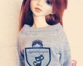 College sweater for slim MSD, Unoa, Minifee - marl grey