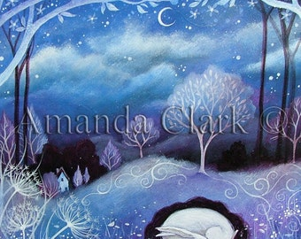 Art print titled The Burrow, from an original painting by Amanda Clark