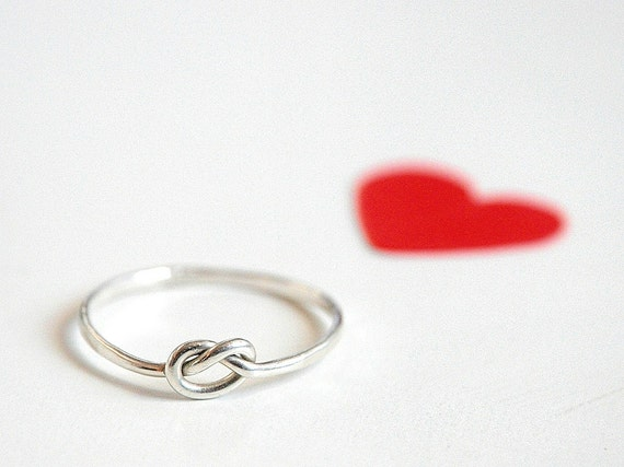 Love Knot Ring Sterling Silver, love, BFF, friendship, anniversary, valentine gift