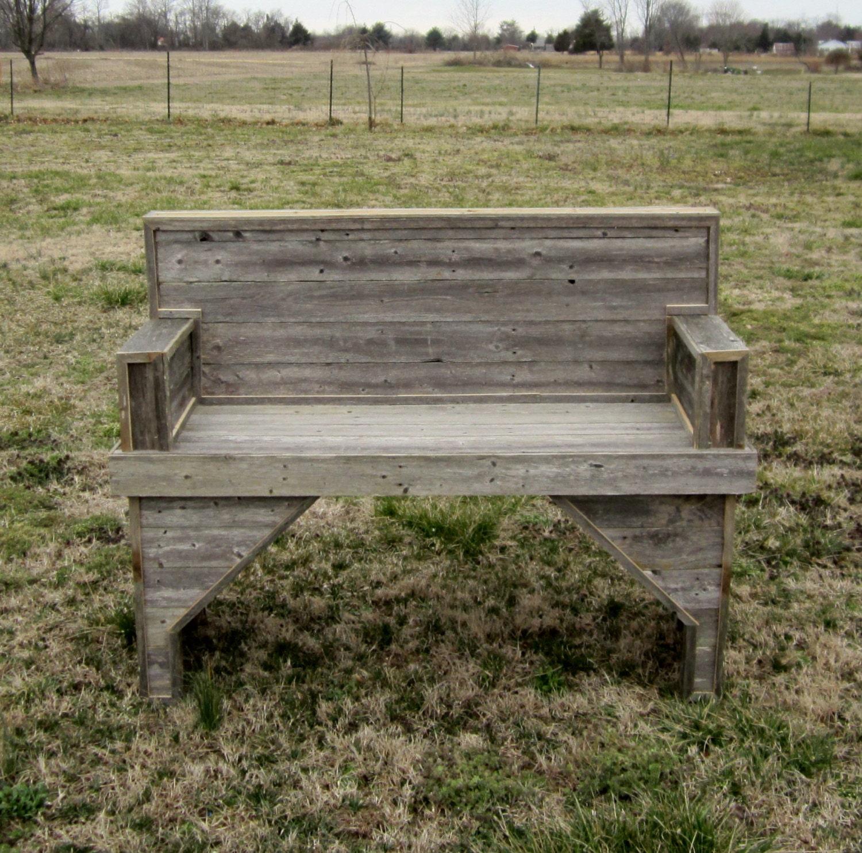 Reclaimed Wood Garden Bench Patio By Countrybythebumpkins