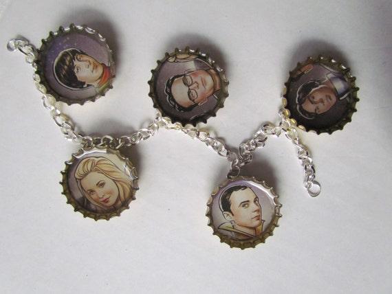 Big Bang Theory Bottle Cap Bracelet