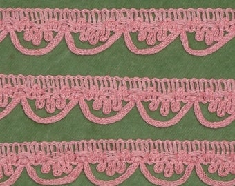 Vintage Bubblegum Pink Scalloped Trim