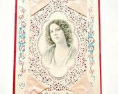 Vintage Victorian Valentine Card Handmade
