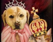 "RESERVED for Lauren MacDonald - 16"" x 20"" custom pet portrait"