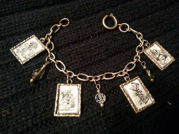 Alice in Wonderland Charm Bracelet - Steampunk