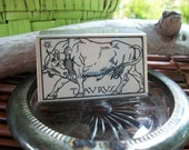 Vintage Horoscope Taurus Stamp