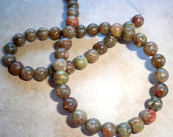 Beautiful Picasso Jasper Beads 8mm Round  HALF STRAND